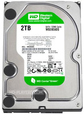Жесткий диск WD Caviar Green HDD 2.0Tb
