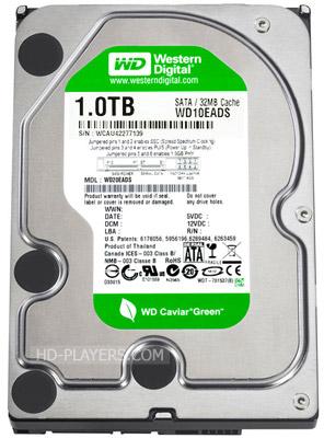 Жесткий диск WD Caviar Green HDD 1.0Tb